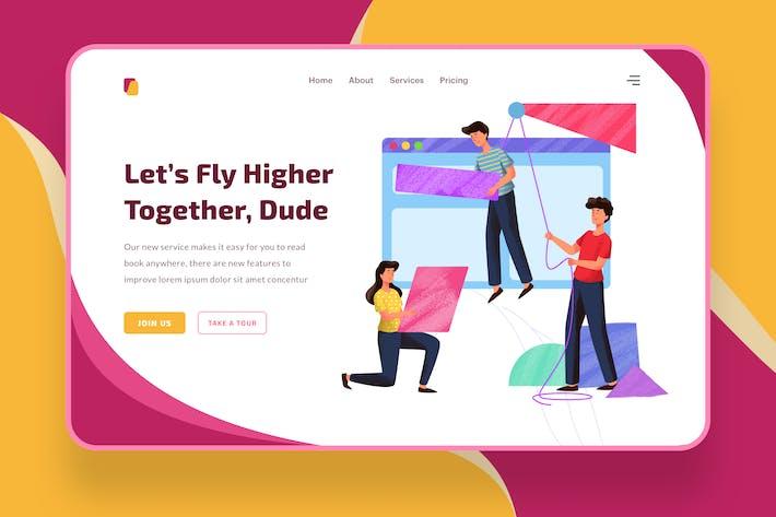 Thumbnail for Let's Fly Higher  illustration - Website Header