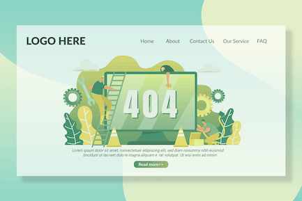 404 Pages - Landing Page