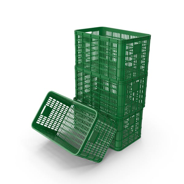 Stacked Plastic Crates