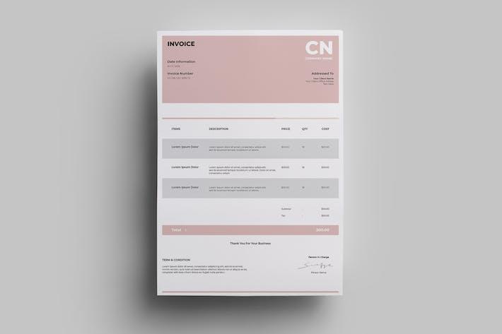Thumbnail for Invoice Design Templates.05