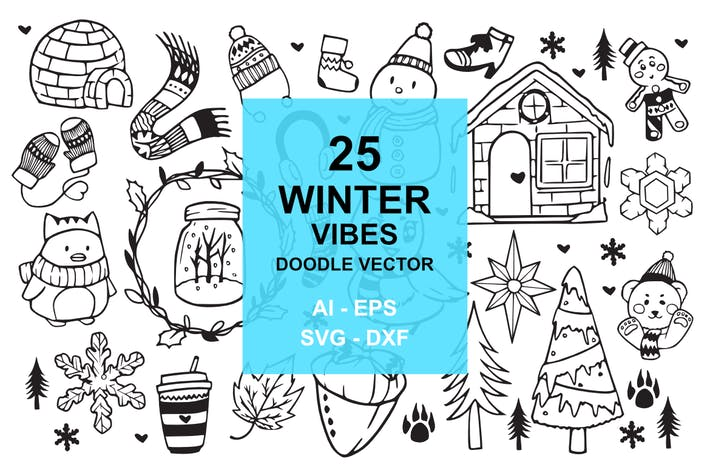 Thumbnail for 25 Winter Vibes Doodles