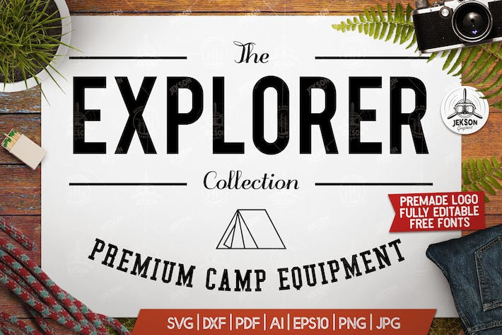 Thumbnail for Vintage Outdoor Explorer Logo / Label Templates