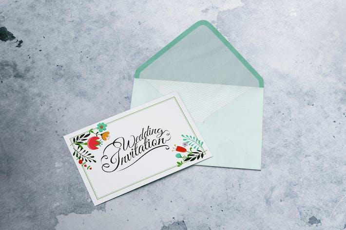 Thumbnail for A6 Postcard & Envelope / Invitation / Flyer MockUp