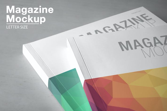 Thumbnail for Magazine Mockup / Letter Size
