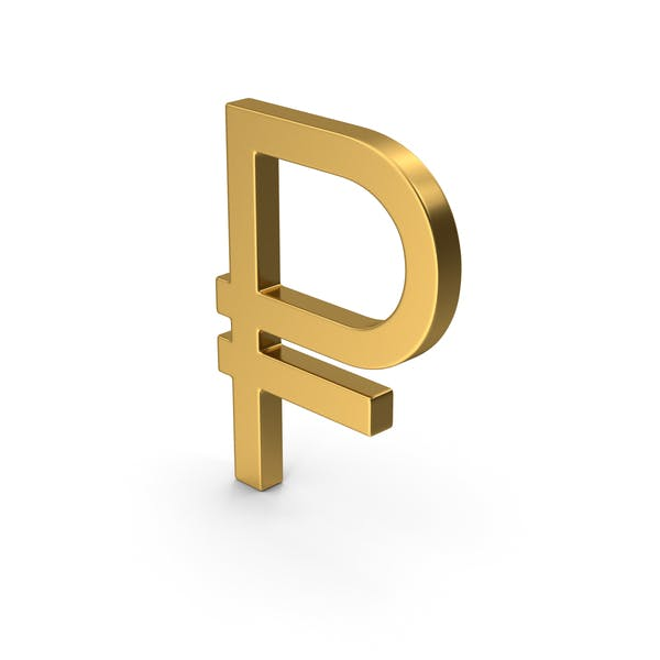 Gold Symbol Russian Ruble