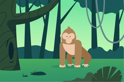 Affen-Illustration