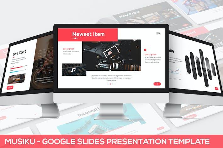 Thumbnail for Musiku - Google Slides Presentation Template