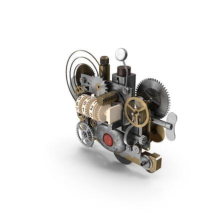 Clockwork Gear with Counter Mechanism Mixed