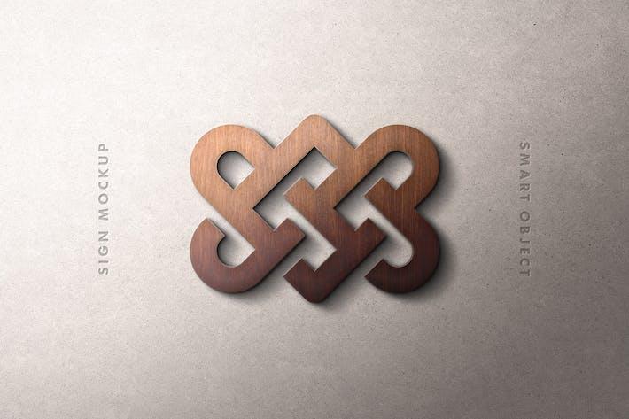 Thumbnail for Wood Sign Logo Mockup