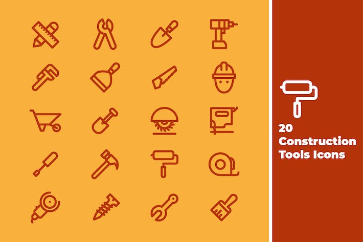 Thumbnail for Construction Tools Icons