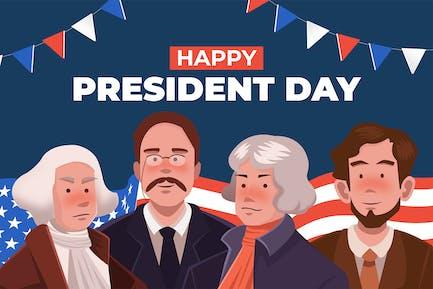Happy President Day - Illustration
