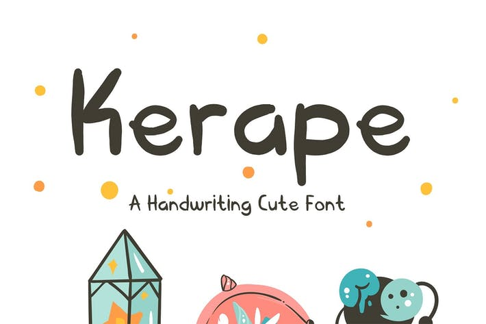 Thumbnail for Kerape Handwriting Font
