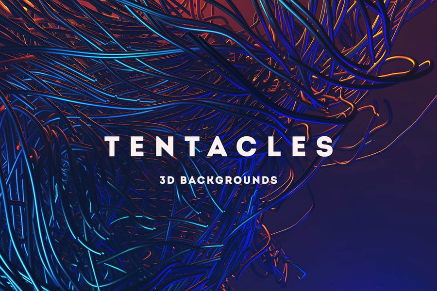 Tentacles - 15 Futuristic 3D Backgrounds