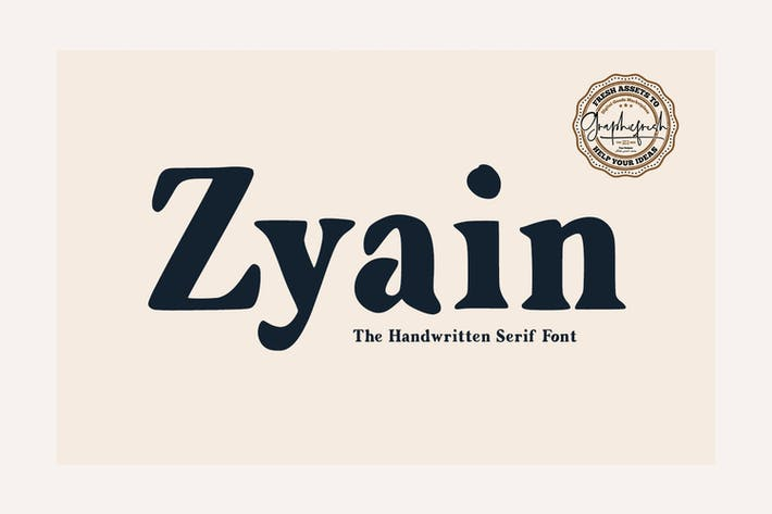 Thumbnail for Zyain - The Handwritten Serif Font