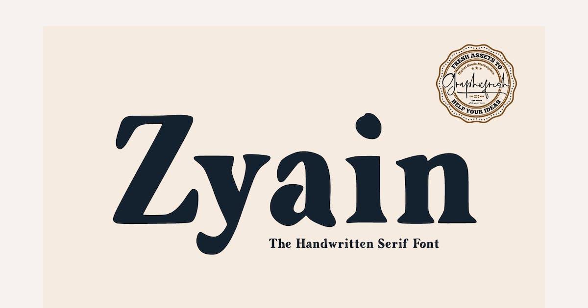 Download Zyain - The Handwritten Serif Font by sameehmedia