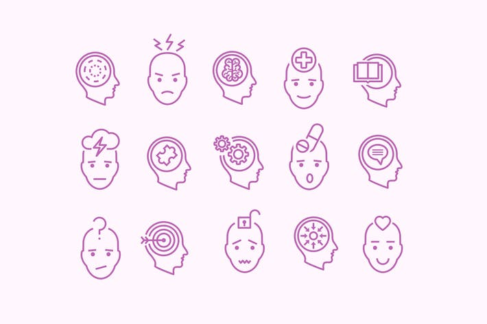 Thumbnail for 15 Mental Health Icons
