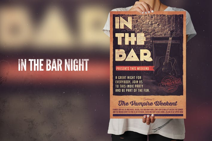 Cover Image For In The Bar Flyer Poster