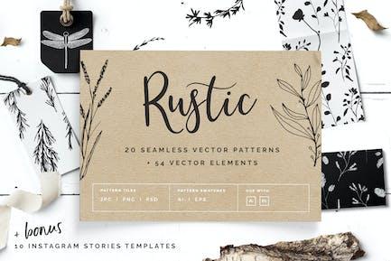 Rustikale Muster & Instagram Stories