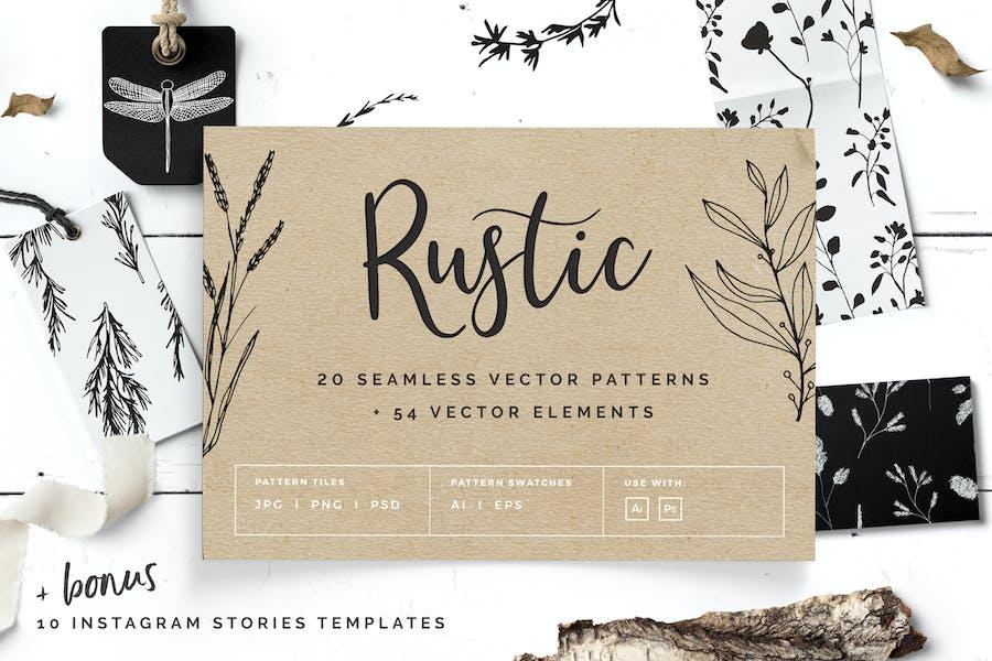 Rustic Patterns & Instagram Stories