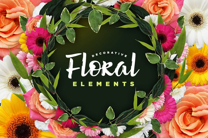 Thumbnail for Decorative Floral Elements Kit