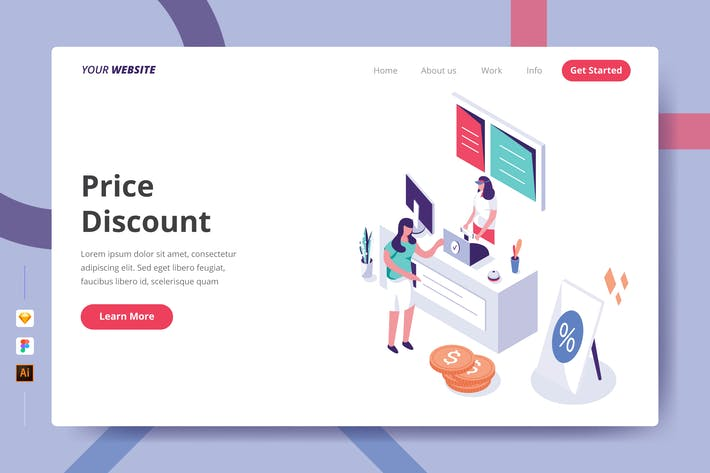 Thumbnail for Price Discount - Landing Page