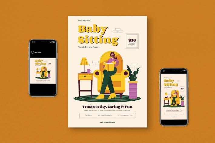 Thumbnail for Baby Sitting Flyer Pack
