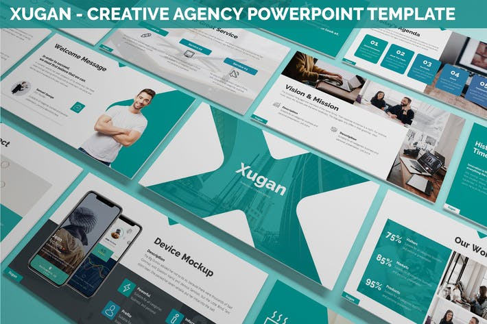 Thumbnail for Xugan - Creative Agency Powerpoint Template
