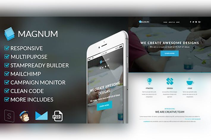 Thumbnail for Magnum-Responsive Email Template