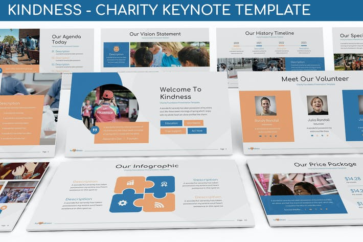 Thumbnail for Доброта - Благотворительный шаблон Keynote