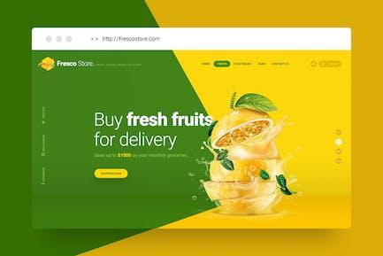 Fresco Store - Fruit Hero Header Template V.1