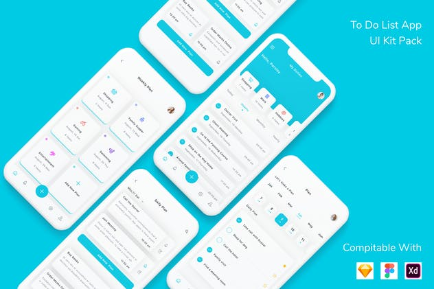 To Do List App UI Kit Pack