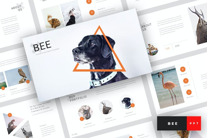 Thumbnail for Bee - Animal PowerPoint Template