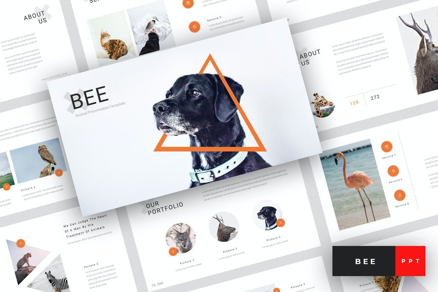 Bee - Animal PowerPoint Template