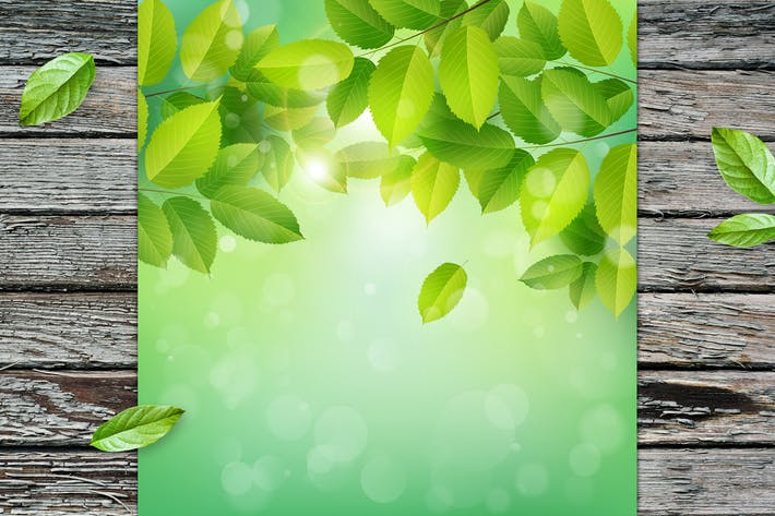 Thumbnail for Background with Green Leaves
