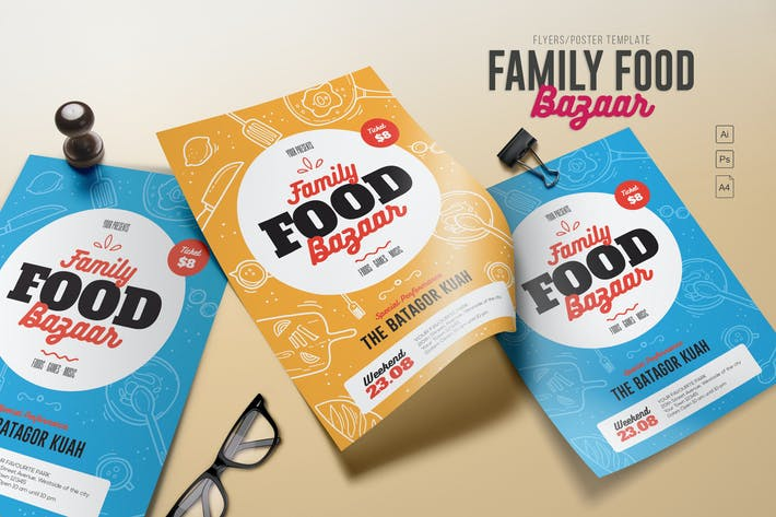 family food bazaar flyers by me55enjah on envato elements