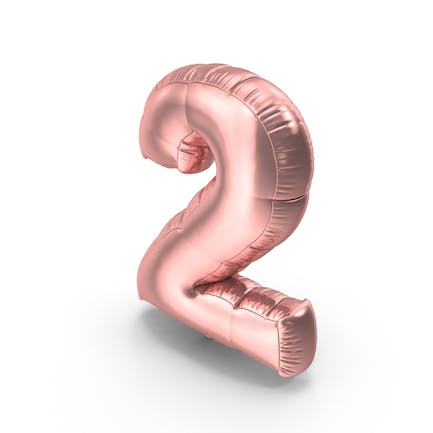 Foil Balloon Number 2 Pink