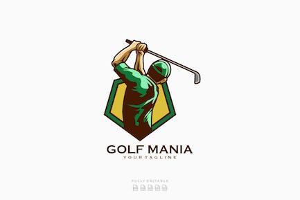 Golf Mania Golfer Sport Logo