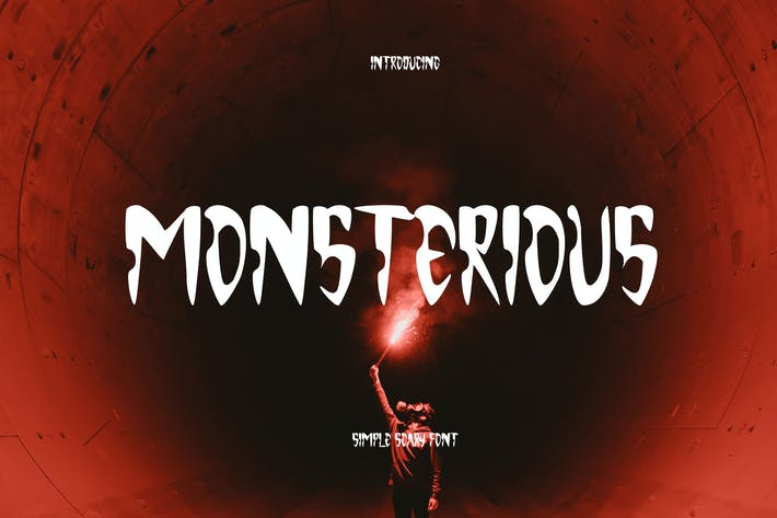 Thumbnail for Monsterious - Scary Font GL