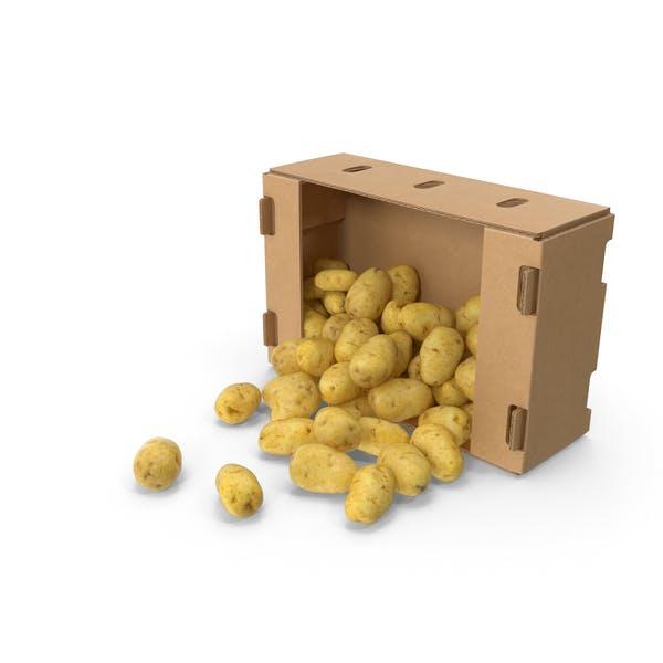 Разлитая коробка картофеля