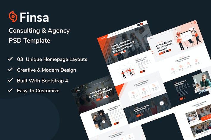 Finsa - PSD-Vorlage für Beratung und Unternehmen