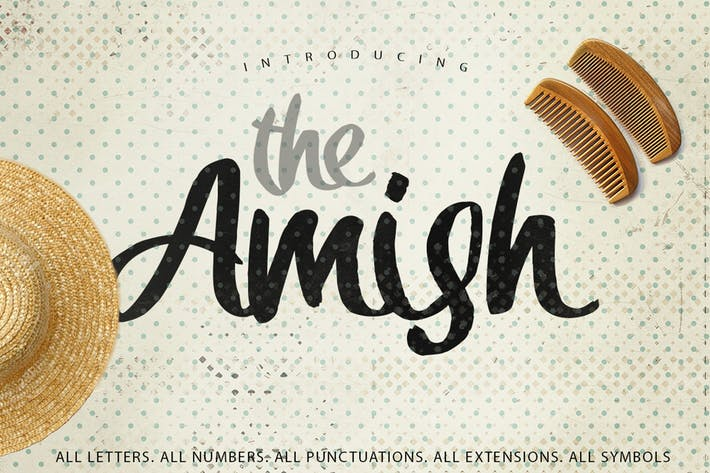 Thumbnail for The Amish Typeface