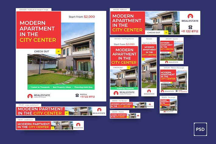 Thumbnail for Real Estate Banners Ad