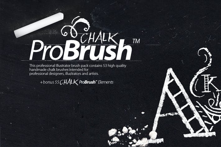 Thumbnail for Chalk ProBrush + Vector Elements