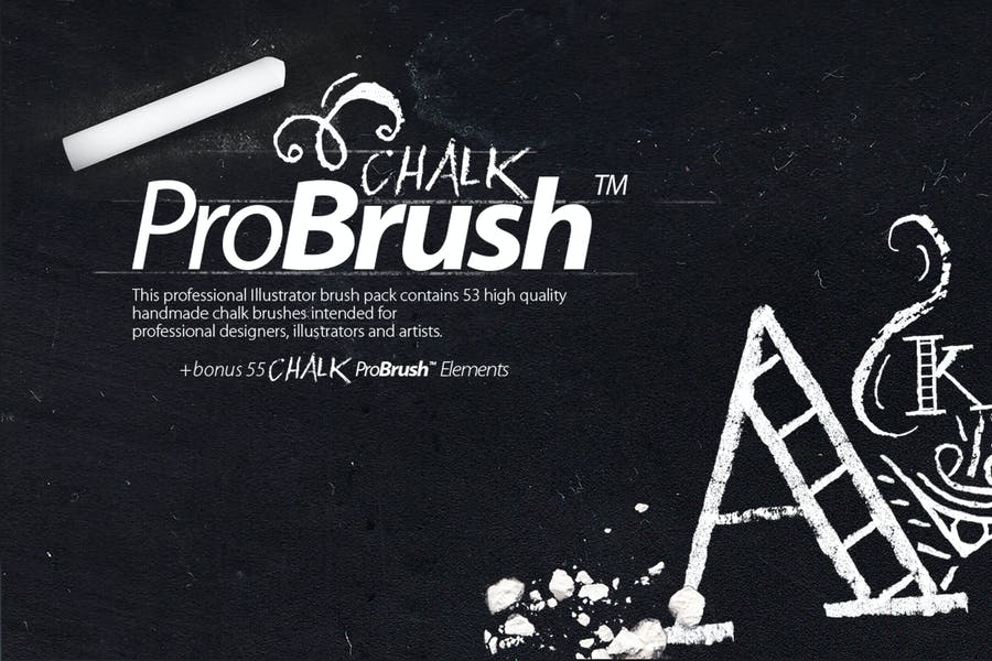 Chalk ProBrush + Vector Elements