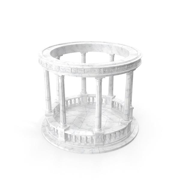 Marble Round Colonnade