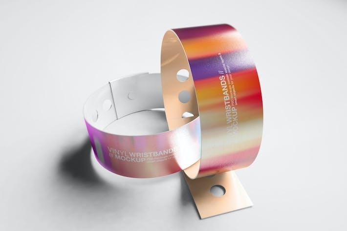 Thumbnail for Vinyl Wristbands Mockup Vol2