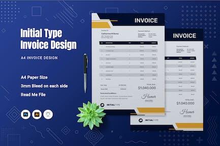 Initial Type Invoice