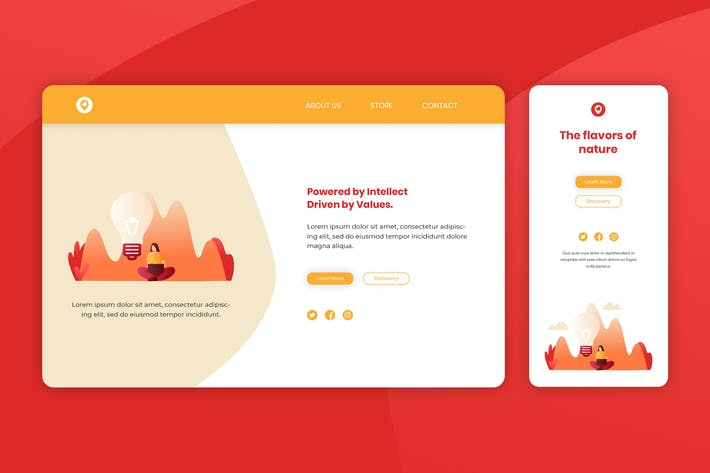 Thumbnail for Illustration Landing Page & Onboarding Mobile App