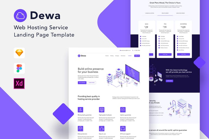 Thumbnail for Dewa - Web Hosting Landing Page Template