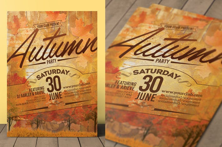 Thumbnail for Autumn Event Flyer / Invitation